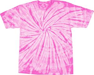 Colortone Spider Pink Tie Dye Short Sleeve T-Shirt