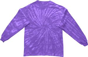 Colortone Spider Tie Dye Long Sleeve Tee Shirts