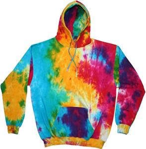 Colortone Rainbow Tie Dye Pullover Hoodies