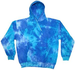 Colortone Blue Mix Tie Dye Pullover Hoodies