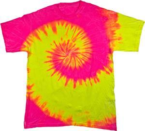 Colortone Fluorescent Swirl Tie Dye SS Tee Shirts
