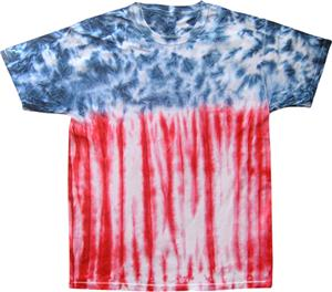 Colortone USA Flag Tie Dye Short Sleeve Tee Shirts