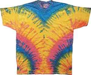 Colortone Woodstock Tie Dye Short Sleeve Tee Shirt