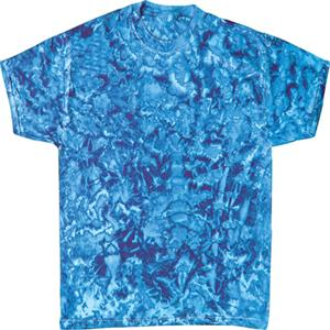 Colortone Crystal Blue Tie Dye SS Tee Shirt