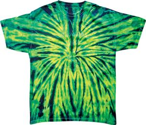 Colortone Wild Spider Tie Dye Short Sleeve T-Shirt