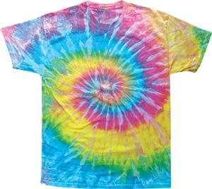 Colortone Saturn Tie Dye Short Sleeve Tee Shirts