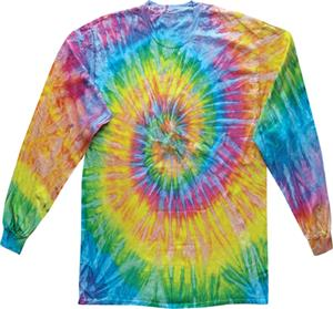 Colortone Saturn Tie Dye Long Sleeve Tee Shirts