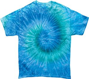 Colortone Blue Jerry Tie Dye Short Sleeve T-Shirts