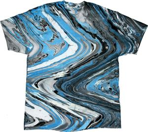 Colortone Marble Blue Tiger Tie Dye SS Tee Shirts