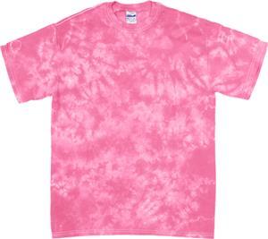 Dyenomite Crystal Pink Tie Dye Short Sleeve TShirt
