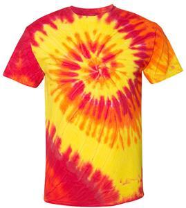 Dyenomite Spiral Tie Dye Short Sleeve Tee Shirts
