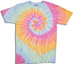 Dyenomite Aerial Spiral Tie Dye Short Sleeve Shirt