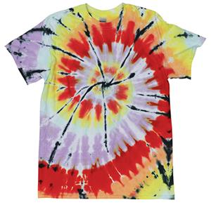 Dyenomite Cut Spiral Tie Dye Short Sleeve T-Shirts