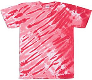 Dyenomite Tiger Stripe Tie Dye Short Sleeve Shirts