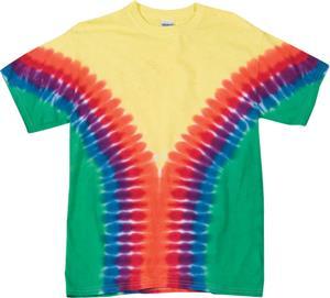 Dyenomite Vee Tie Dye Short Sleeve Tee Shirts