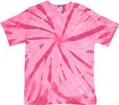 Dyenomite Pink Pinwheel Tie Dye SS Tee Shirts