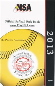 National Softball Association Rule Books - 2013