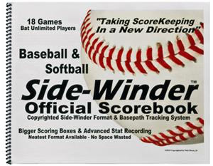 Side-Winder Official Baseball Softball Scorebook