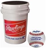 Rawlings Bucket of 36 ROLB1X Practice Baseballs