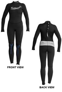 To Exceed Women's Eccentric 3/2 mm Full Wet Suit