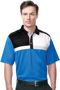 TRI MOUNTAIN Gold Marquis Color Block Polo