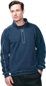 Mens Cambridge Peached 1/4-Zip Pullover Sweatshirt