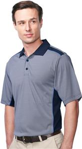 Tri-Mountain Accolade Stripe Polo w/ Mesh Panels