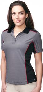 Tri-Mountain Lady Accolade Stripe Polo w/ Panels