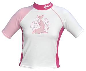 To Exceed Kids Esprit Pink Short Sleeve Rash Guard