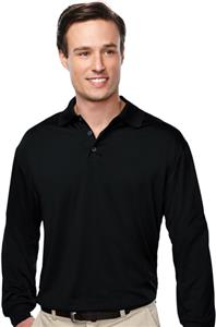 Campus Polyester Jersey Long Sleeve Polo Shirt