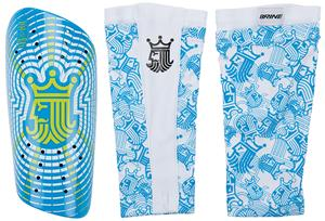 Brine King Blue Soccer Shin Guard (PAIR)