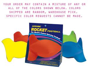 Aerobie Fast Spinning Squeezable Rocket Football