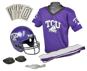 Collegiate Youth Football Team Uniform Set TCU