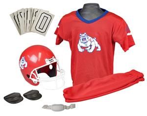 Collegiate Yth Football Team Uniform Set FRESNO ST