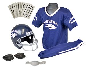 Collegiate Youth Football Team Uniform Set NEVADA