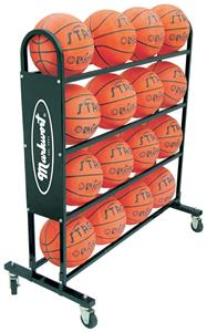Markwort Stag Basketball Trolley 16 Ball Rack