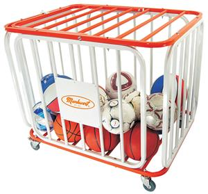 Markwort Stag Basketball Tubular Steel Cage Cart
