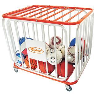 Markwort Stag Basketball Tubular Steel Cage Cart