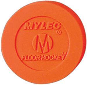 Mylec Orange Hollow Floor Hockey Puck