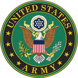 """Fan Mats US ARMY 44"""" Round Area Rug"""