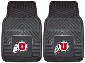 Fan Mats University of Utah 2-Piece Vinyl Car Mats