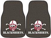 Fan Mats Nebraska Black Shirts Car Mats (set)