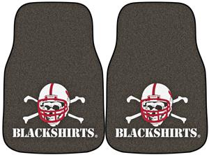 Fan Mats Nebraska Black Shirts Carpet Car Mats