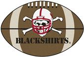 Fan Mats U. of Nebraska Black Shirts Football Mat