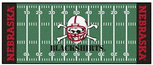 Fan Mats Nebraska BlackShirts Football Runner