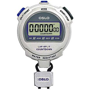 Blazer Athletic Oslo Silver 2.0 Twin Stopwatch
