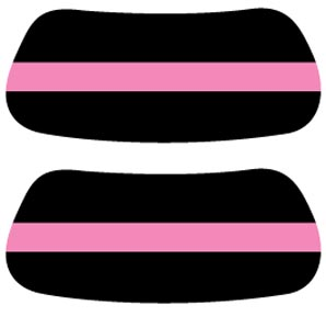 Pink Power Stripe EYEBLACK Strips