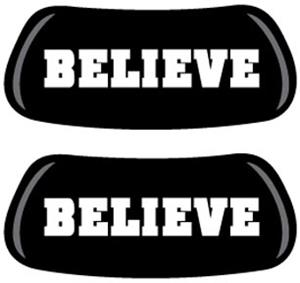 Inspirational Believe EYEBLACK Strips