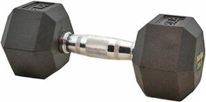 PowerMax 5 lb. - 100 lb. Rubber Coated Dumbbells