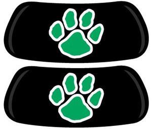 Green Paw Print EYEBLACK Strips